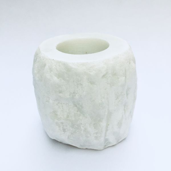 White quartz tea light