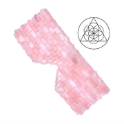 Eye mask rose quartz