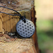 "Shungite engraved pendants ""Flower of Life"""
