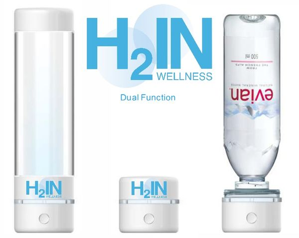 H2 water bottle 2 in 1