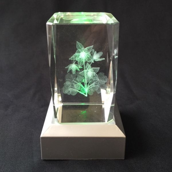 3D glass flower + LED