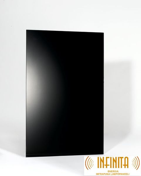 Infrared panel black glass