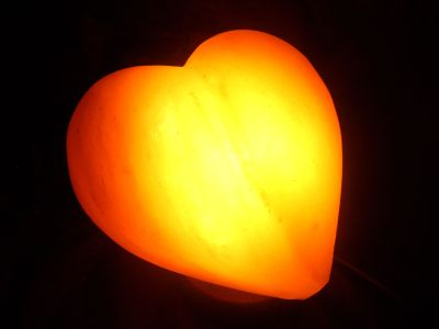 Salt lamp Heart